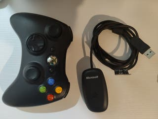 mando xbox 360+adaptador inalambrico para pc