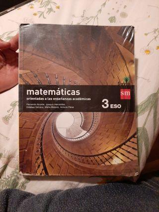 Matematicas Académicas. 3° ESO. SM. Impecable.