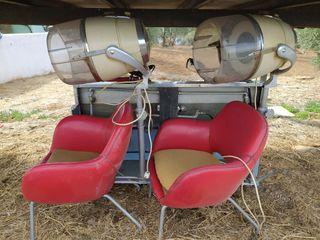 Lavacabezas y secadores vintage. Peluquería