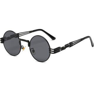 Gafas de Sol Redondas negra