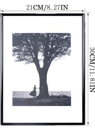 marco de fotos en aluminio negro A4 2und