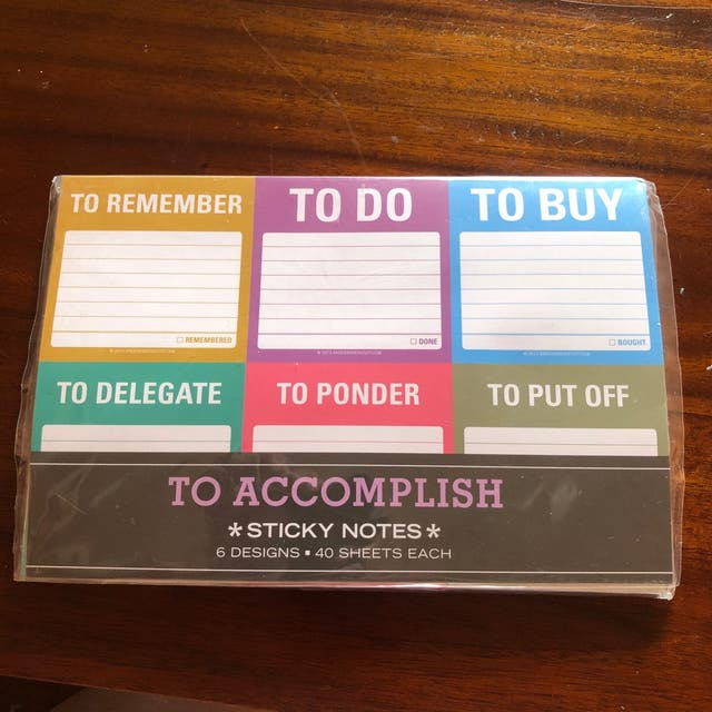 To Do or To Accomplish Sticky Notes New