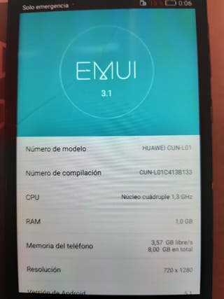 Huawei Y5II CUN-L01 fallo batería