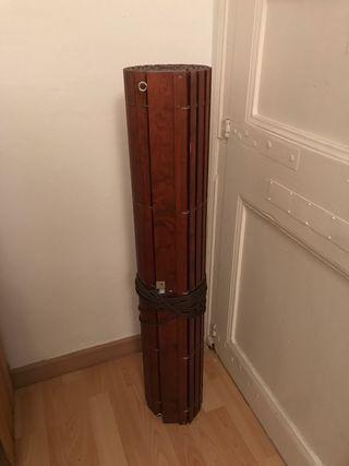 Persiana madera enrollable