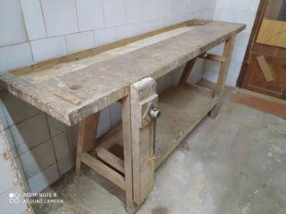 banco de carpintería ebanistería antiguo