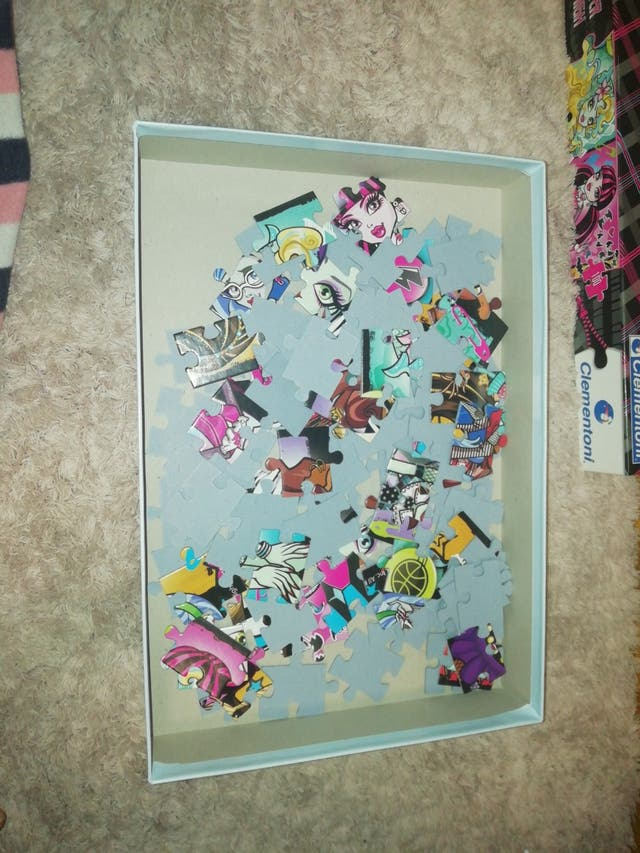 puzzle para niños monster high