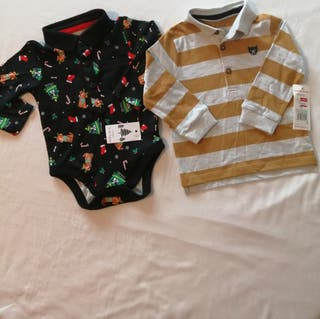 baby boy top and vest 6-9 months brand new
