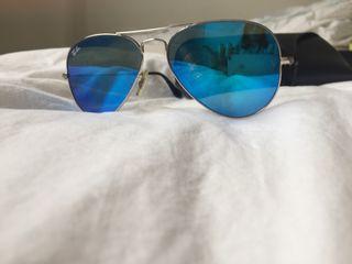 Rayban Aviator Espejo Azul
