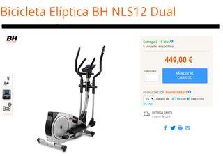 Bicicleta Elíptica BH NLS12 Dual Nueva