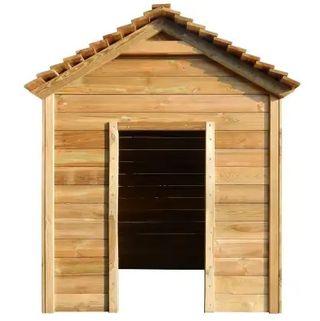 Casa de juegos de jardín de madera 123x120x146cm