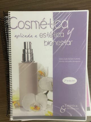 Libro de cosmética aplicada a estética y bienestar