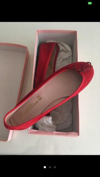 Bailarinas manoletinas rojas