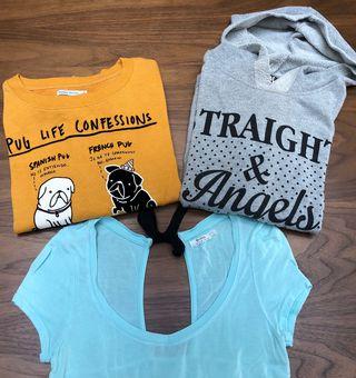 Lote sudaderas y camiseta BERSHKA