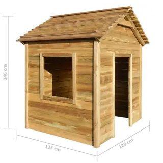 Casa de juegos de jardín de madera 23x120x146cm