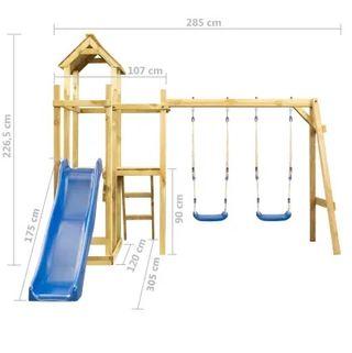 Parque infantil 285x305x226,5 cm