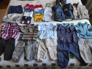 Lote bebé 62-68cm (3-6m aprox) con abrigos (27 Uds