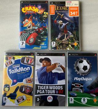 Pack 5 juegos PSP