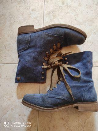 Botas mustang azules