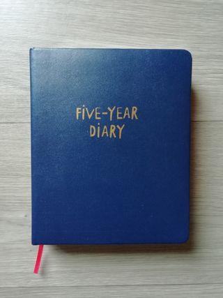 Diario para 5 años tapas duras
