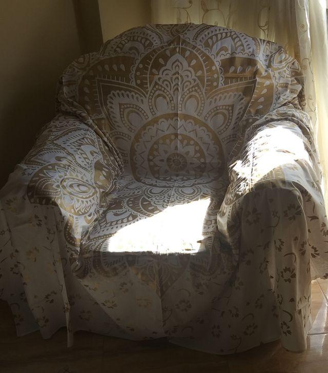 cubre sillón indio mandala