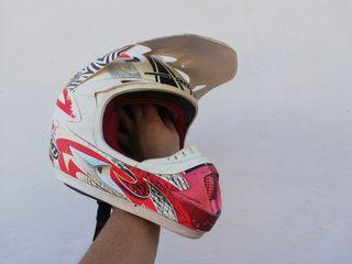 casco y peto motocross