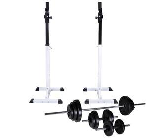 Soporte de pesas con pesas