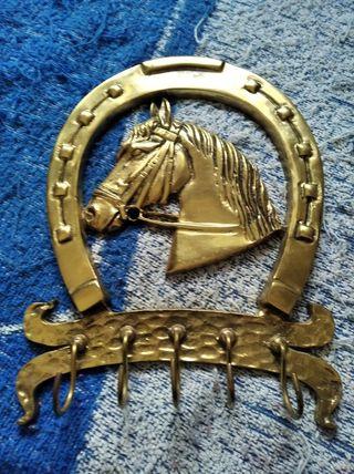 colgador de llaves cabeza de caballo, de hierro