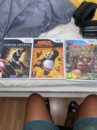 Vendo tres juegos Wii.Están en muy bien estado.