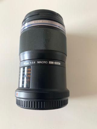 Objetivo Olympus 60mm Macro 2.8 + Extras