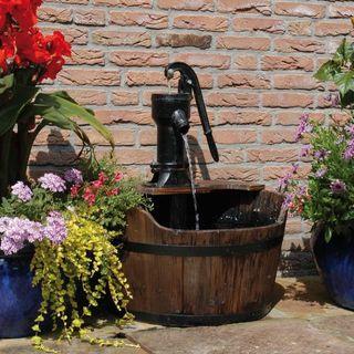 Ubbink Paisaje de Agua de Jardín Barril de Madera