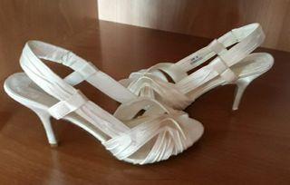 Sandalia de novia 39,5 Ivory