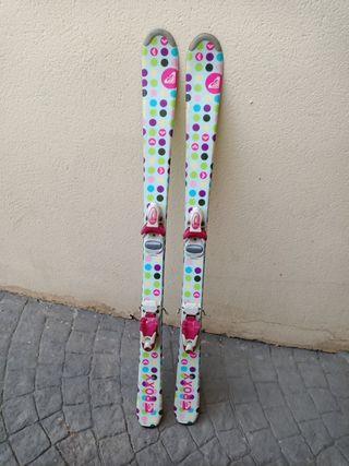 esquís infantiles 120cm Roxy