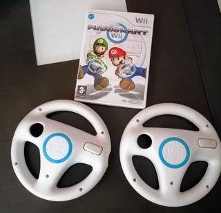 Juego Mario Kart + 2 volantes