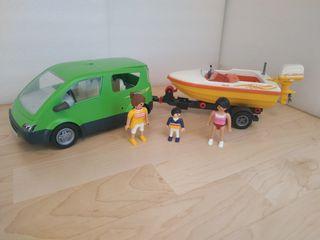 Coche con lancha Playmobil