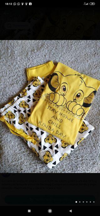 Pijama Simba el Rey León talla L 42-44 y XL 46-48