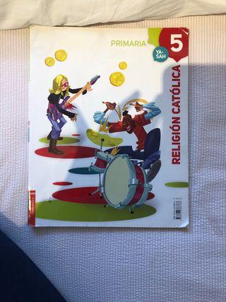 libro 5 de primaria religión