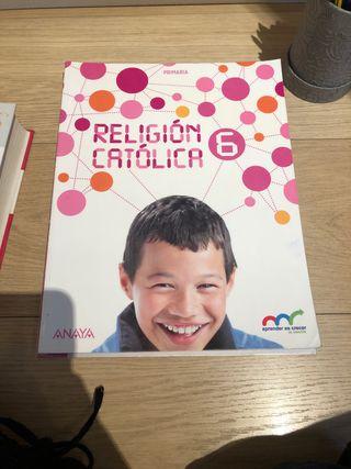 libro de texto religion catolica 6 primaria