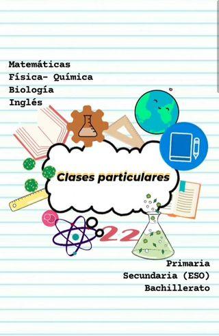 Clases particulares refuerzo escolar