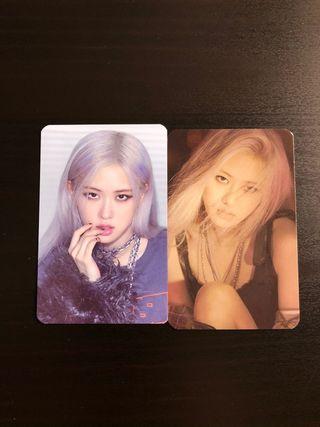 Rosé photocards (pre-order The Album)