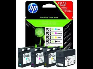 HP 932XL/933XL Combo 4 Pack, Negro, Cian, Magenta