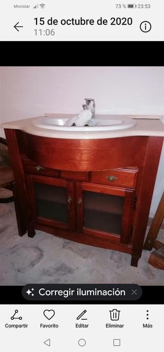 lavabo madera
