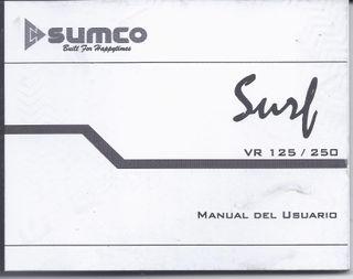 Manual usuario Sumco Surf 125