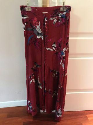 Falda flores larga