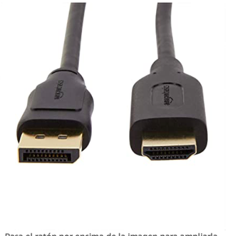 Cable HDMI a Display Port HP portátiles/monitores