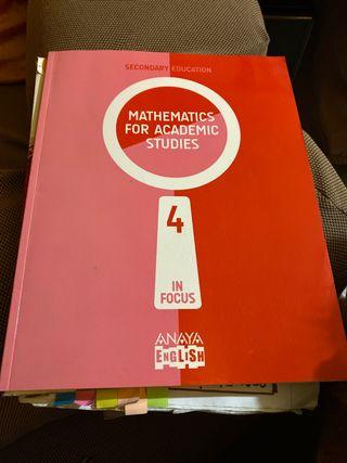 Libro mathematics for académic studies 4