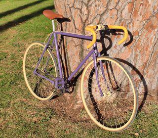 Bicicleta Fixie Violeta