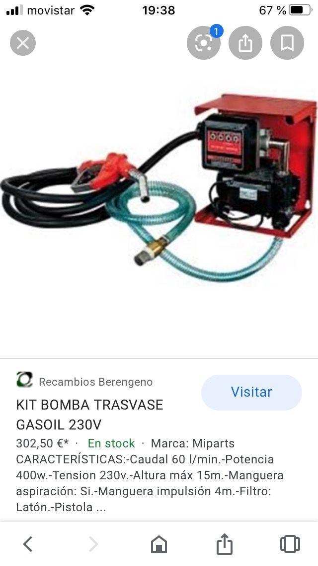 Bomba trasvase Gasoil 230v