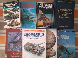 Libros sobre guerra mundial, aviación, tanques...