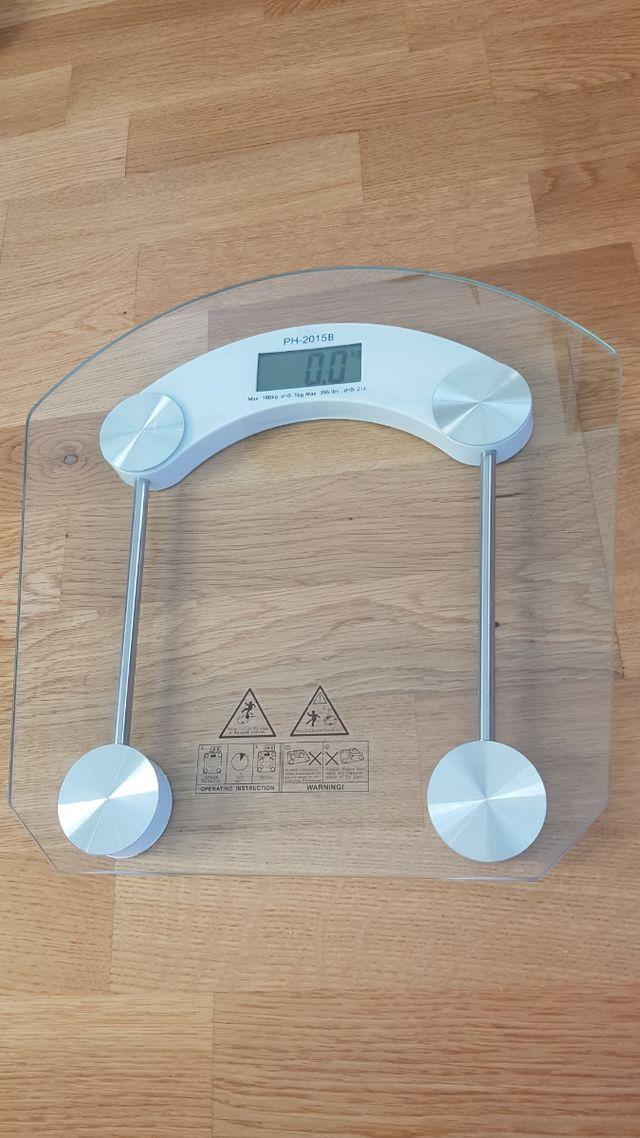 Báscula digital de vidrio