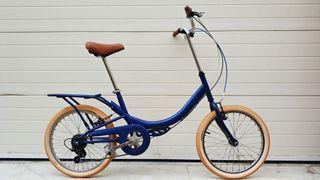 Bicicleta ciudad azul